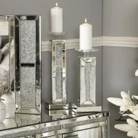 Diamond Glitz Mirrored Small Candle Holder | Picture ...