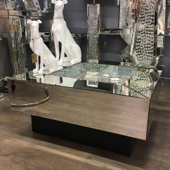 Living Room Console Tables Mirrored Pictures Of Unique Rooms Floating Crystal & Black Coffee Table | Picture ...
