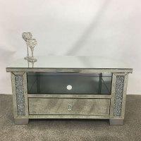 Diamond Crush Mirrored Corner TV Cabinet | Picture Perfect ...