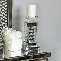 Floating Crystal Pillar Candle Holder | Picture Perfect Home