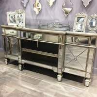 Belfry Antique Silver Mirrored TV Cabinet | Picture ...