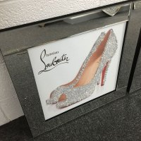 Louboutin Heeled Shoes Mirrored Picture Wall Art | Picture ...