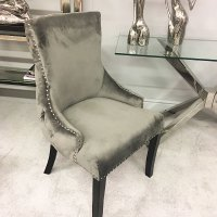 Grey Tufted Back Dining Chair | Picture Perfect Home