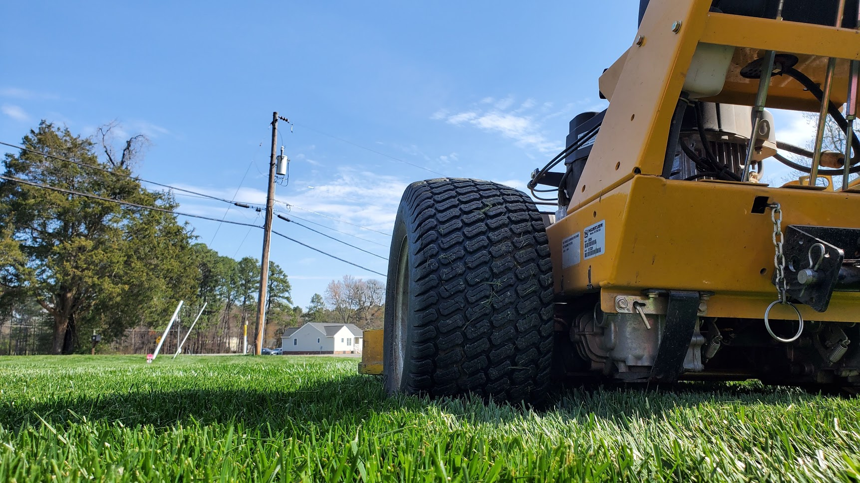 How to mow a lawn the right way!!  Tall Fescue