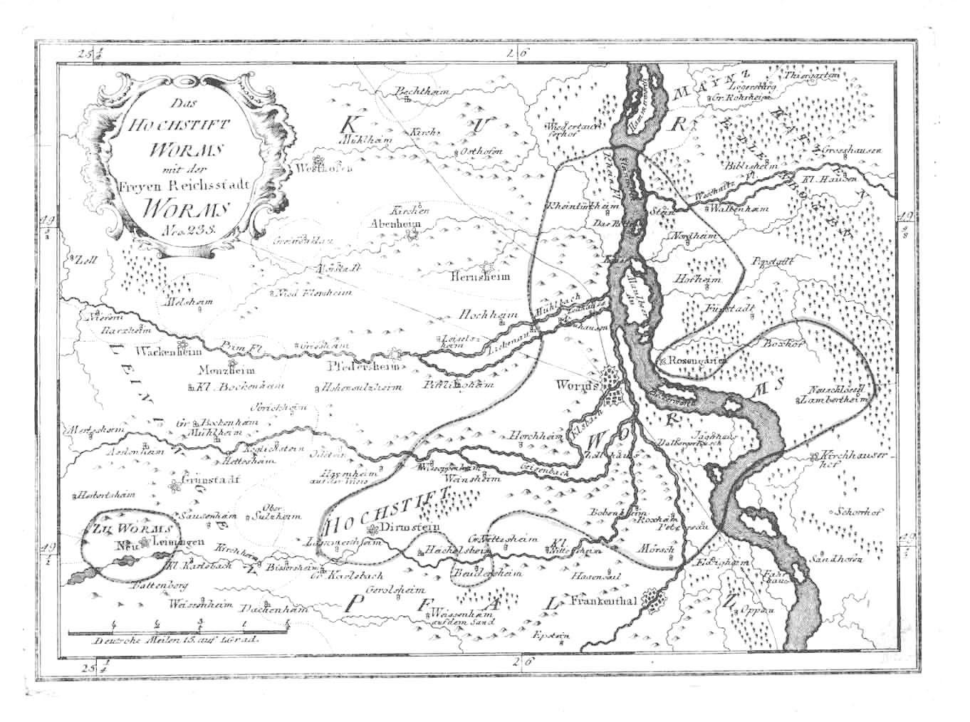 Das Hochstift Worms mit der Freyen Reichsstadt Worms Nro