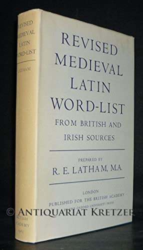 Revised Medieval Latin Word List from British and Irish