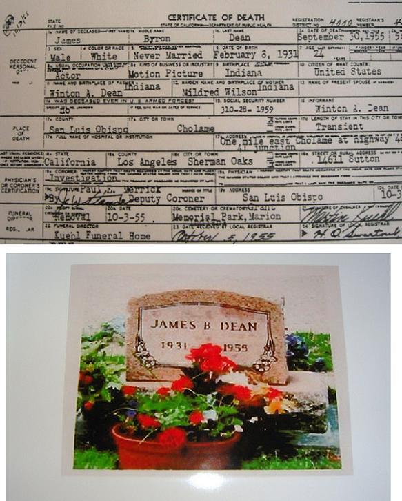 JAMES DEAN AUTOPSY  ACCIDENT Report by James Dean  hand