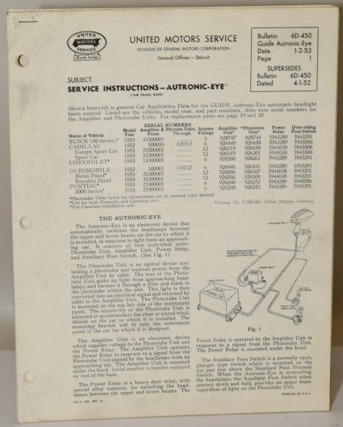 small resolution of 1953 12 volt autronic eye circuit diagram 1952 53 6 volt 1953 12 volt