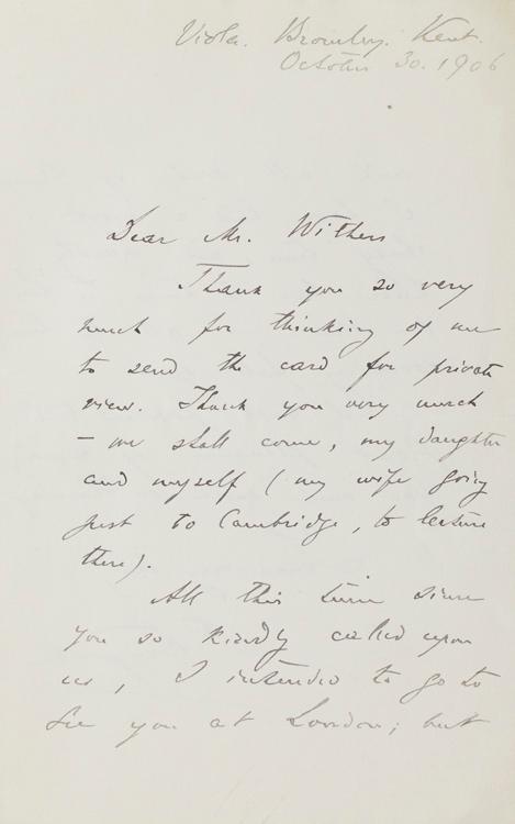 Autograph Letter, signed (