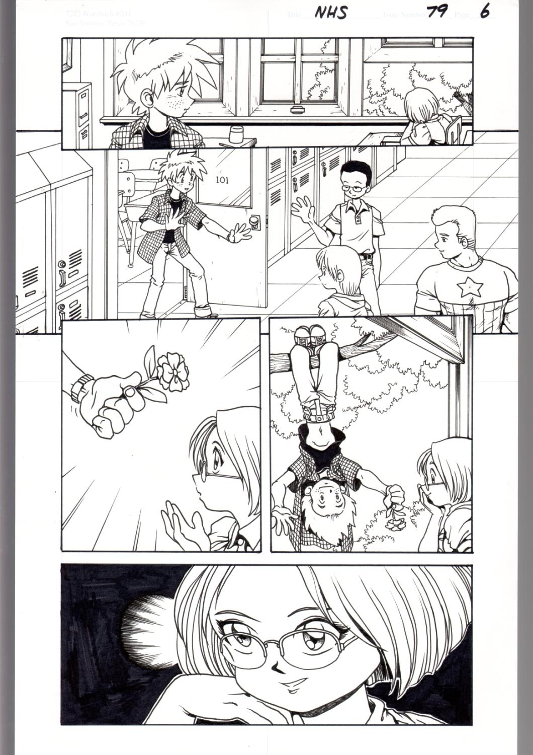 Ninja High School 79 Pg 6 Original Art Ben Dunn Anime
