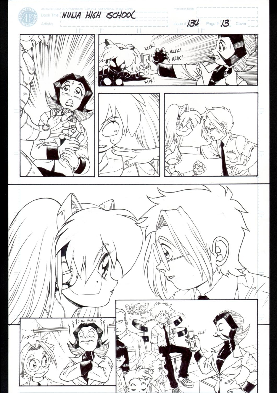Ninja High School 134 Pg 13 Original Art Ben Dunn Anime
