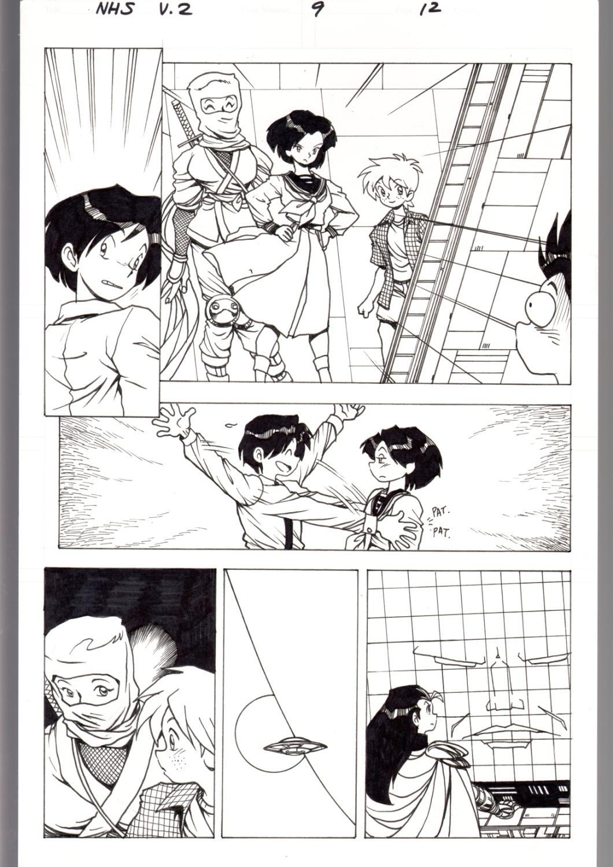 Ninja High School V 2 9 Pg 12 Original Art Ben Dunn Anime