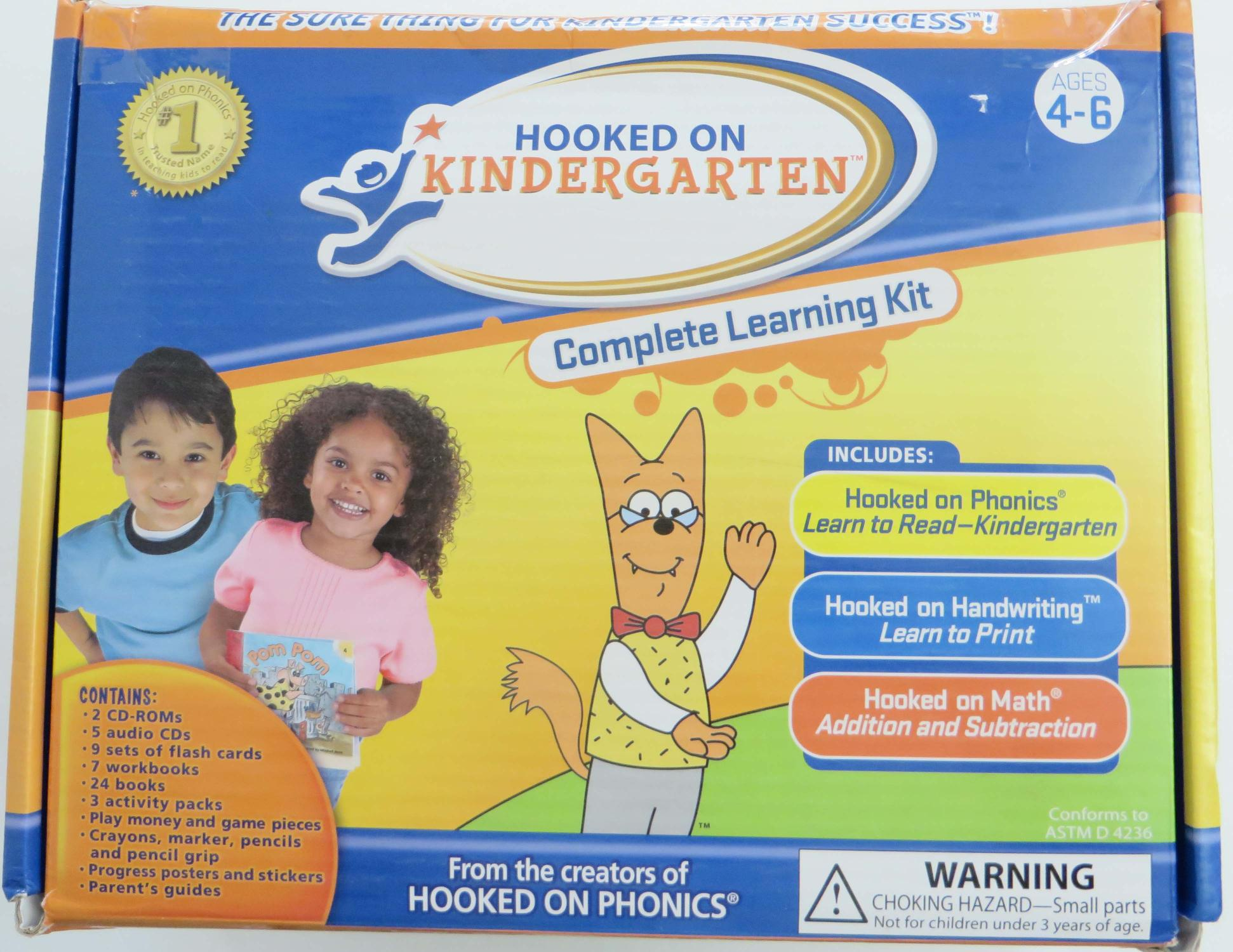 Hooked On Kindergarten Ages 4 6 Complete Learning Kit