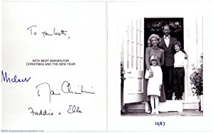 Exceptional christmas card signed by both, the Princess