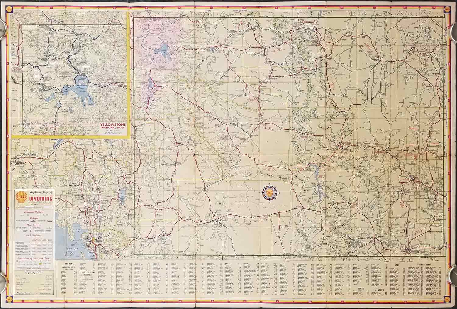 Shell Map Of Wyoming By Wyoming