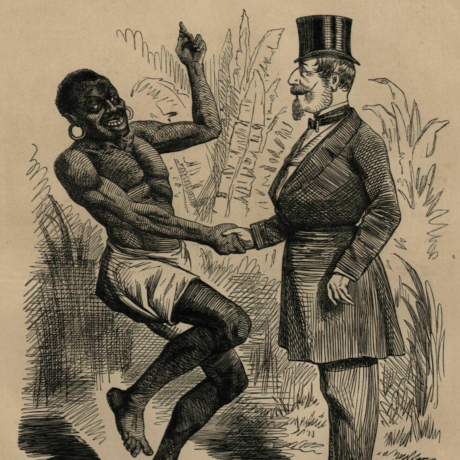 African Man Amp Napoleon Iii Racist Political Cartoon
