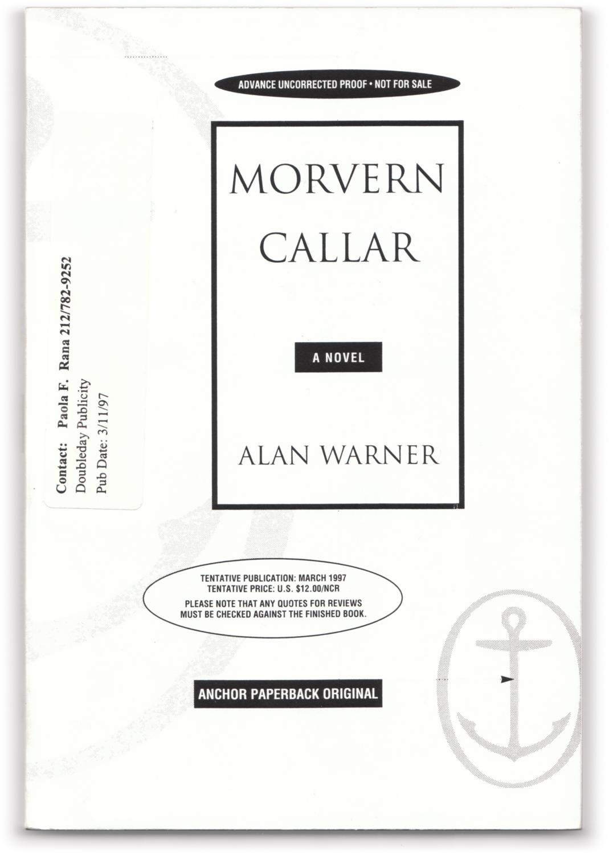 Morvern Callar. by WARNER, Alan.: Anchor Books, Doubleday