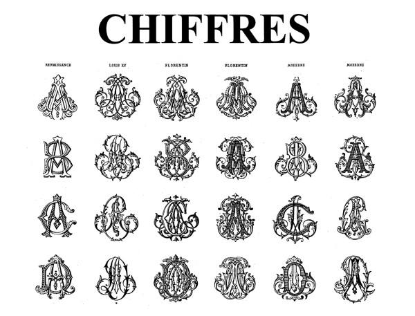 Chiffres: Ornamental Lettering and Monograms in all Styles