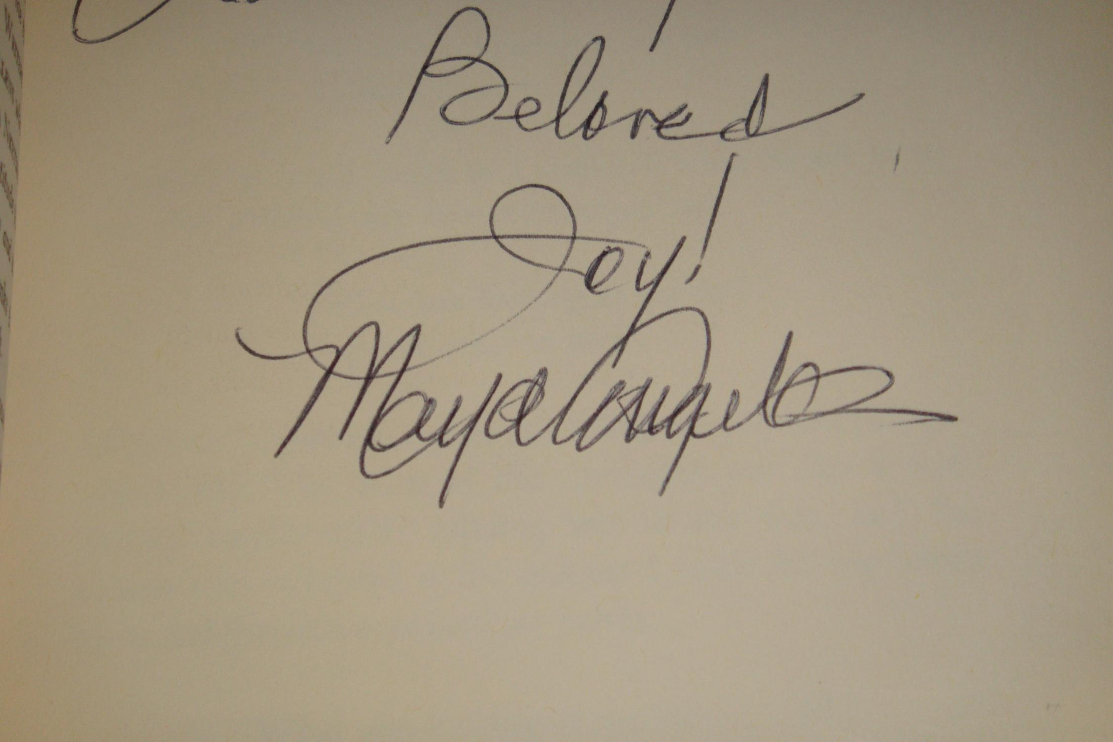 I Know Why The Caged Bird Sings Signed By Angelou Maya