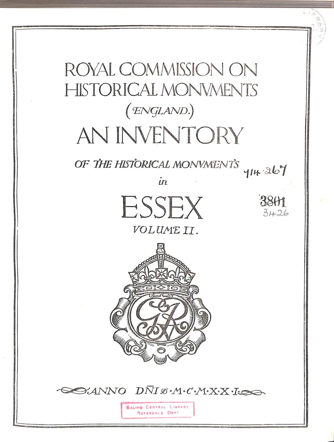 Royal Commission on Historical Monuments (England) An