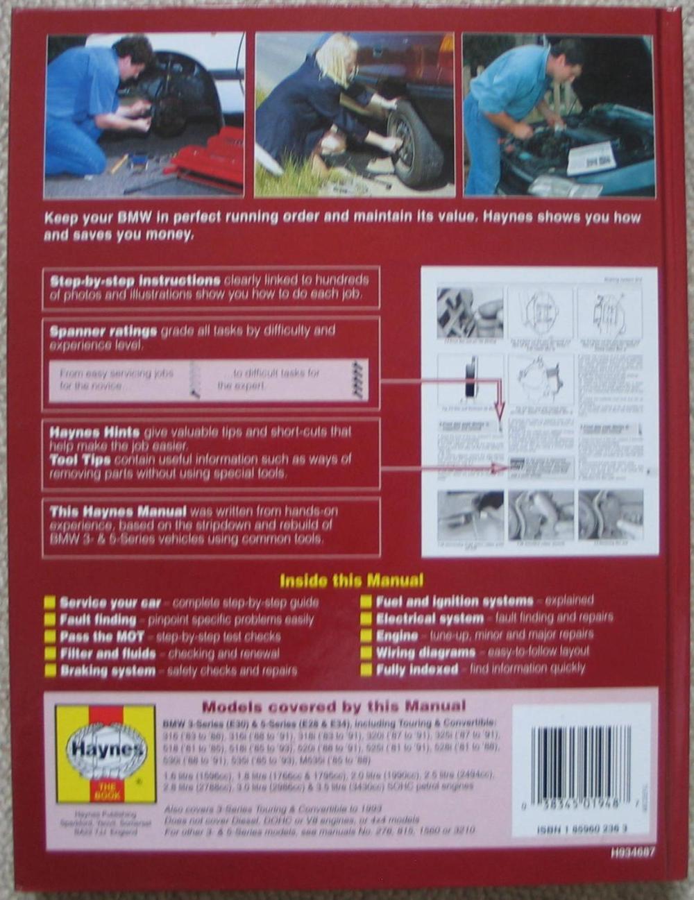 medium resolution of  bmw 3 5 series service and repair manual legg a k