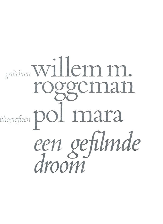 Een gefilmde droom by Roggeman, Willem / Mara, Pol