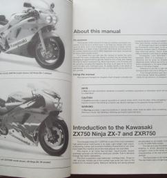 kawasaki zx750 ninja zx 7 zxr750 fours 1989 to 1995 owners workshop  [ 2000 x 1500 Pixel ]
