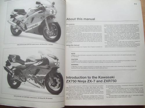 small resolution of  kawasaki zx750 ninja zx 7 zxr750 fours 1989 to 1995 owners workshop