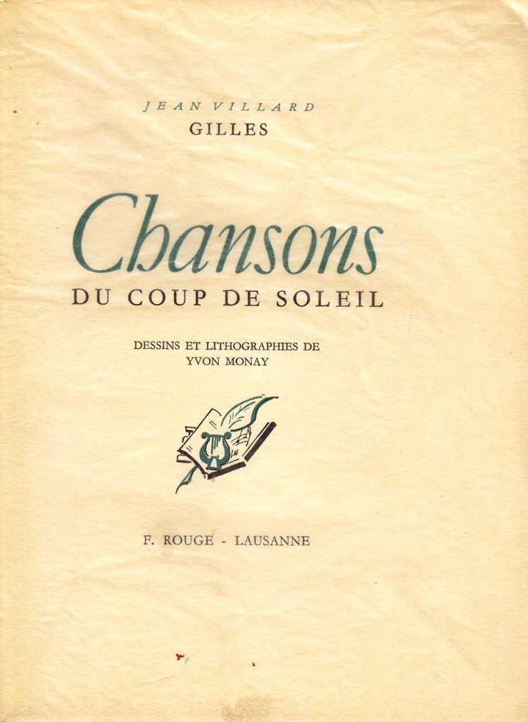 Coup De Soleil Chanson : soleil, chanson, Chansons, Soleil, VILLARD-GILLES, (1947)