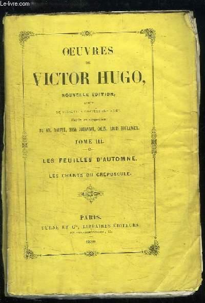 Les Feuilles D'automne Victor Hugo : feuilles, d'automne, victor, Oeuvres, Victor, Feuilles, D'automne, AbeBooks