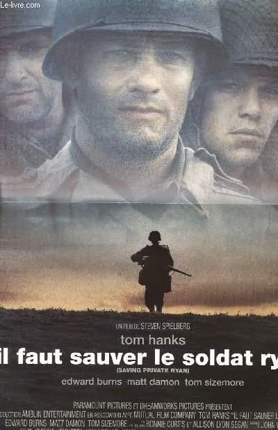 Faut Sauver Le Soldat Ryan : sauver, soldat, AFFICHE, CINEMA, SAUVER, SOLDAT, HANKS, SIZEMORE:, Art/Print/Poster, Le-Livre