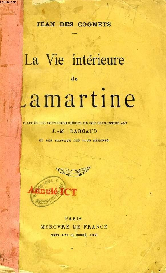 Le Livre De La Vie Lamartine : livre, lamartine, INTERIEURE, LAMARTINE, COGNETS, Couverture, Souple, (1913), Le-Livre