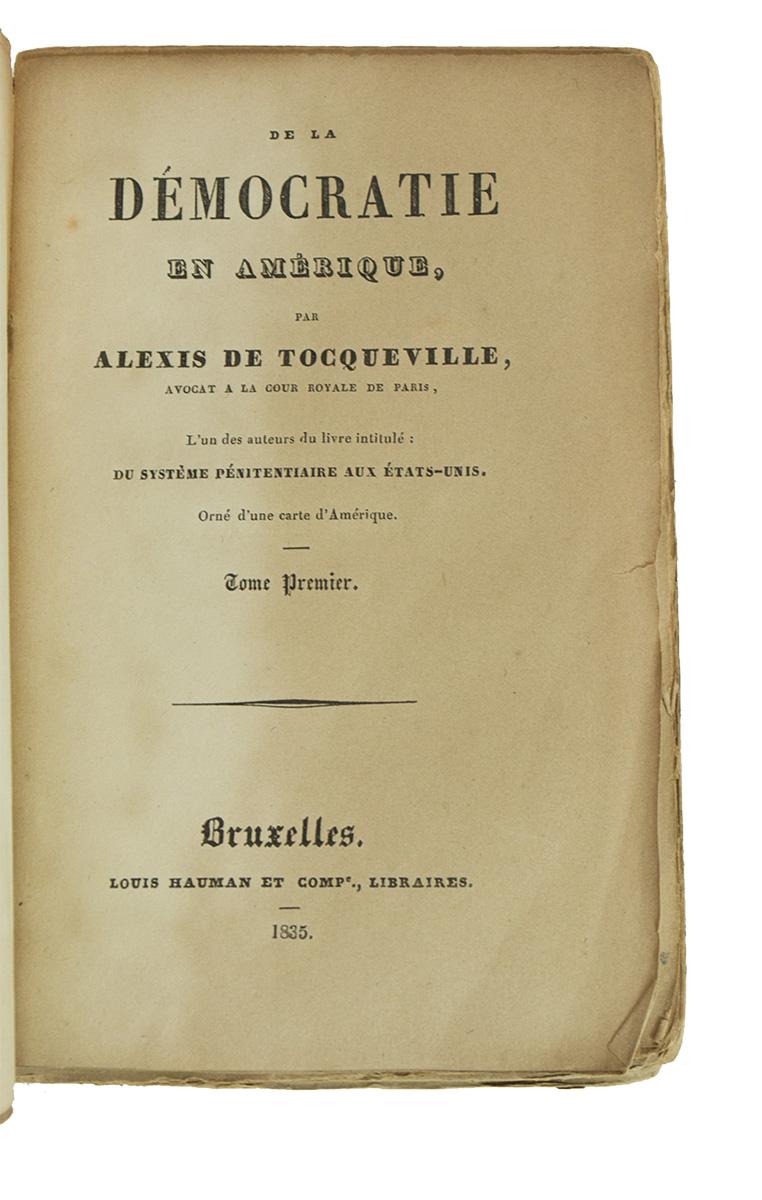 Alexis De Tocqueville De La Démocratie En Amérique : alexis, tocqueville, démocratie, amérique, Démocratie, Amerique, TOCQUEVILLE,, Alexis, (1835), Heritage, Shop,