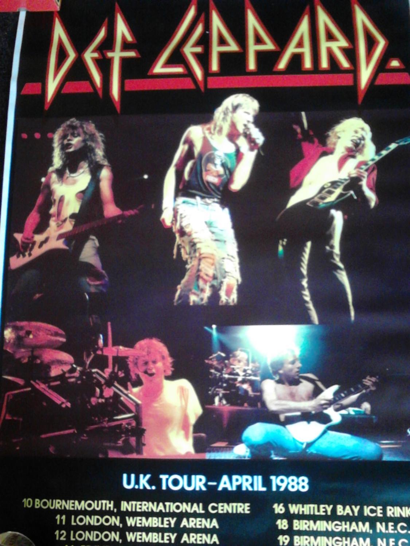 def leppard uk tour poster april 1988