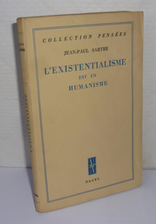 Jean Paul Sartre L Existentialisme Est Un Humanisme : sartre, existentialisme, humanisme, L'existentialisme, Humanisme., Collection, Pensées., Paris., Nagel., 1946., SARTRE,, Jean-Paul, Mesnard, Comptoir, Livre, Ancien
