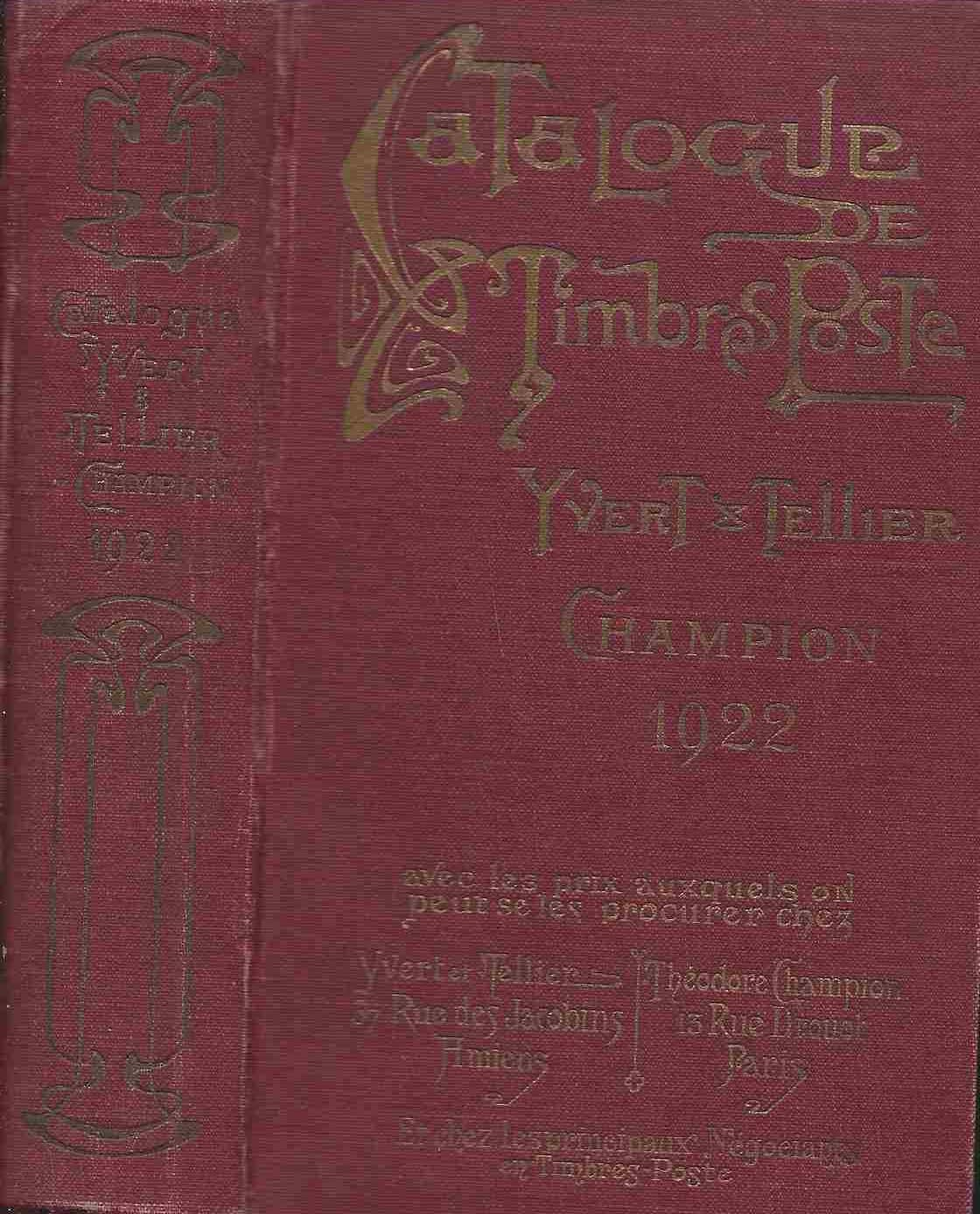 Catalogue De Timbres Yvert Et Tellier : catalogue, timbres, yvert, tellier, Catalogue, Prix-courant, Timbres-poste, Yvert, Tellier-Champion:, (1922), LiBooks