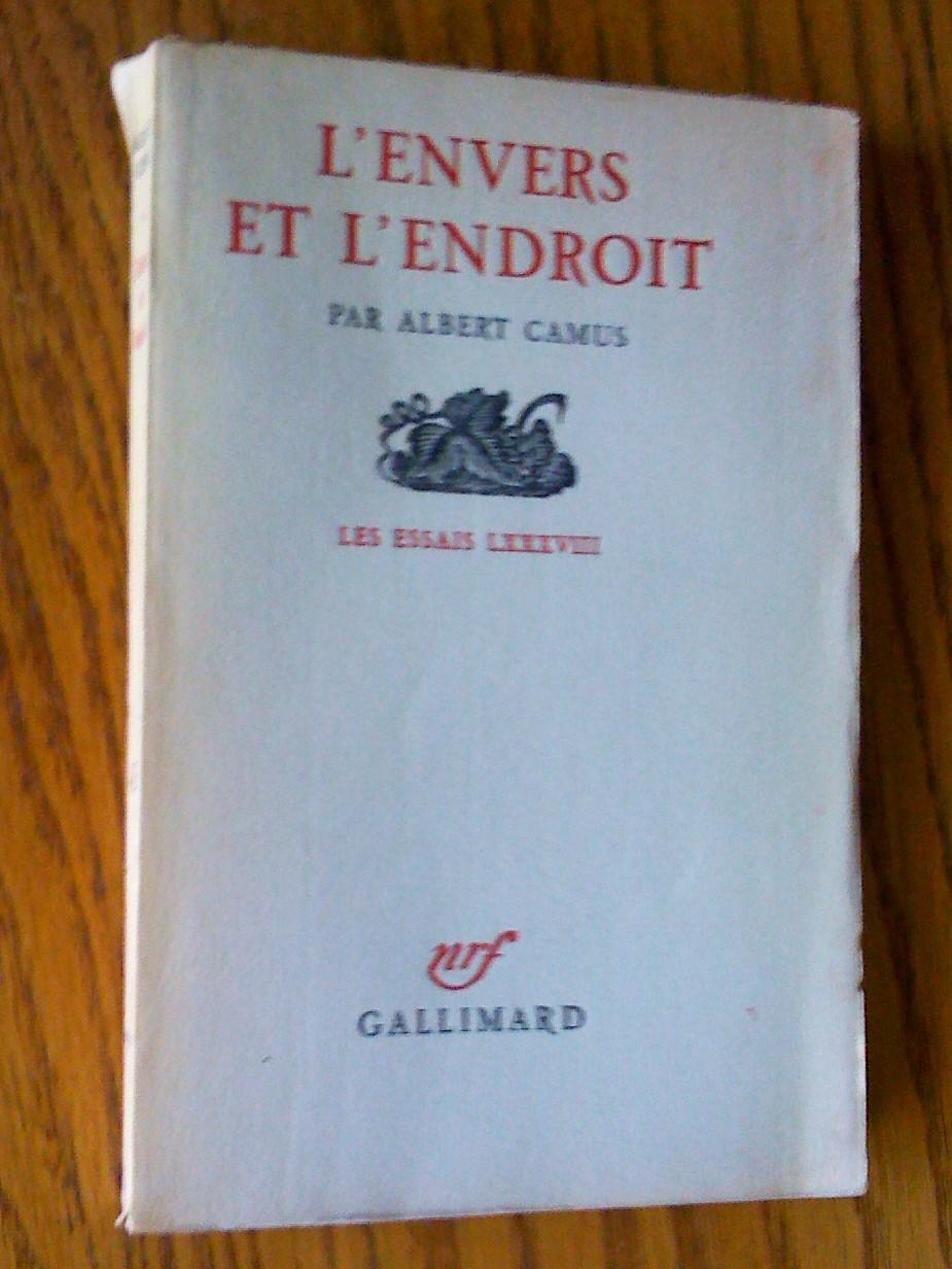 L Envers Et L Endroit : envers, endroit, L'envers, L'endroit, Camus,, Albert:, Très, Couverture, Souple, (1958), Livresse