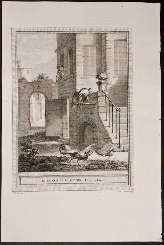 Le Faucon Et Le Chapon : faucon, chapon, Faucon, Chapon, Fontaine, Jean-Bapitiste, Oudrey:, (1755), Trillium, Antique, Prints, Books