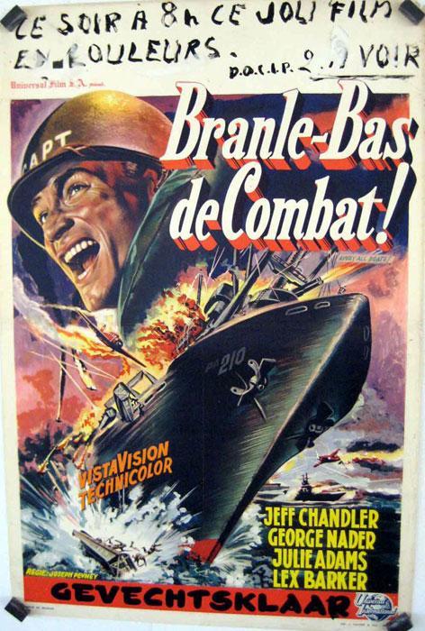 Branle-bas De Combat : branle-bas, combat, BRANLE, COMBAT, 1956Dir, JOSEPH, PEVNEYCast:, CHANDLERJULIE, ADAMSGEORGE, NADERLEX, BARKERBELGICA, -35x46-Cm.-14x18-In.POSTER:, (1956), Art/Print/Poster, BENITO, ORIGINAL, MOVIE, POSTER