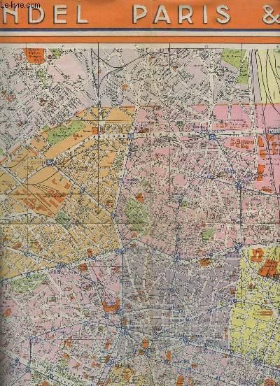 Plan et carte du RER et Transilien de Paris : stations et