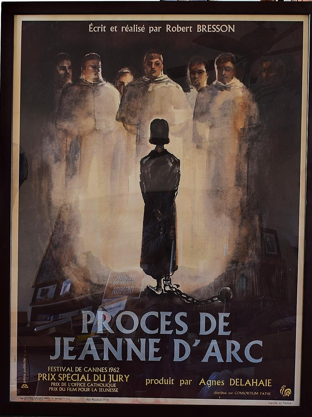 Le Procès De Jeanne D Arc : procès, jeanne, Proces, Jeanne, D'Arc, Trial, (Framed, Poster, Under, Plexiglass,, Actor, Director:, Florence, Delay,, Darbaud,, Philippe, Dreux,, Michel, Herubel,, Robert