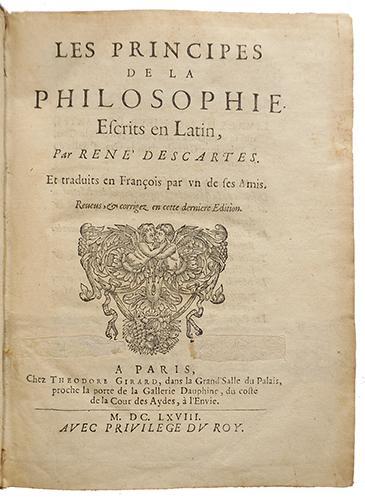 René Descartes - Les principes de la philosophie