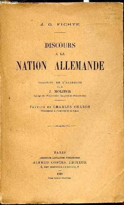 Discours à La Nation Allemande : discours, nation, allemande, Fichte, Discours, Nation, Allemande, AbeBooks