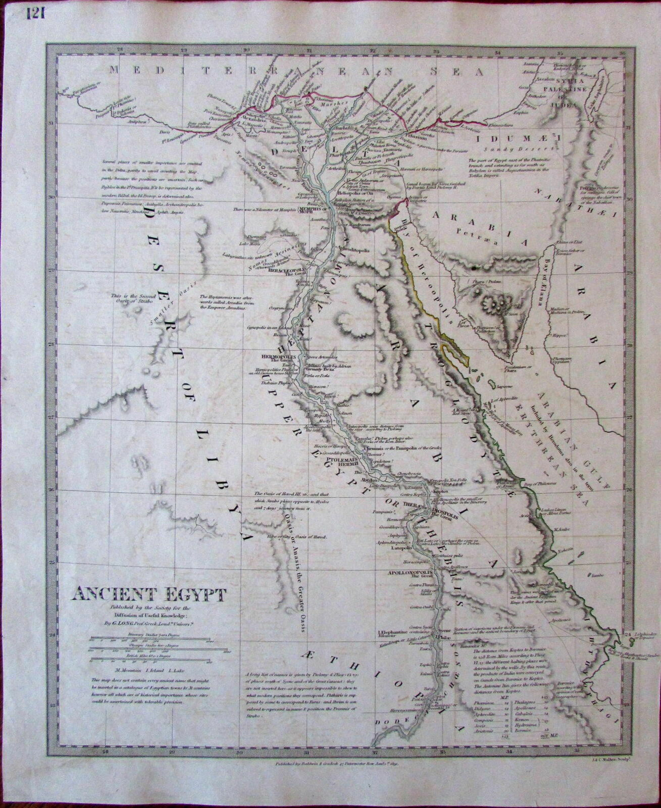 Ancient Egypt Nile Heptanomi Aethiopia Arabia C Sduk