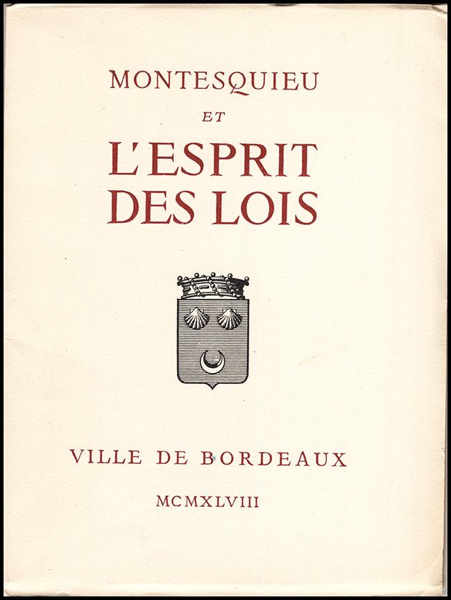 Montesquieu L Esprit Des Lois : montesquieu, esprit, Montesquieu, L'Esprit, Lois:, Exposition, Montesquieu:, Paperback, (1948), Diatrope, Books