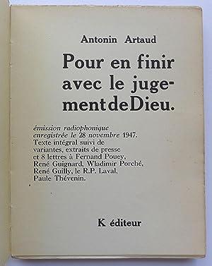 Pour En Finir Avec Le Jugement De Dieu : finir, jugement, Artaud, Antonin, Finir, Jugement, AbeBooks