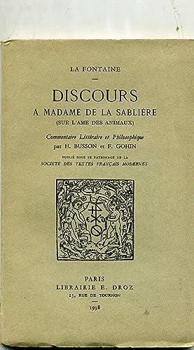 Discours à Madame De La Sablière : discours, madame, sablière, Discours, Madame, Sabliere, AbeBooks