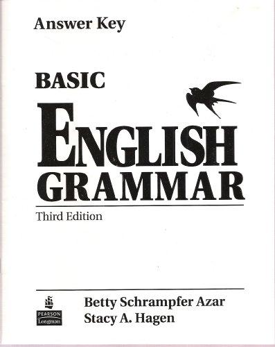 Basic english grammar 3/e answer key by Betty Schrampfer
