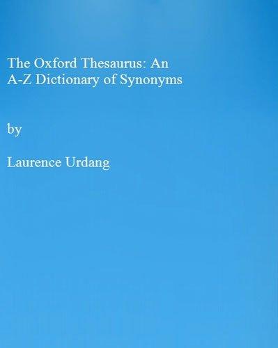 9780198691518 The Oxford Thesaurus An AZ Dictionary of