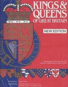 Kings and queens of great britain wallchart  genealogical chart showing their descent also rh abebooks